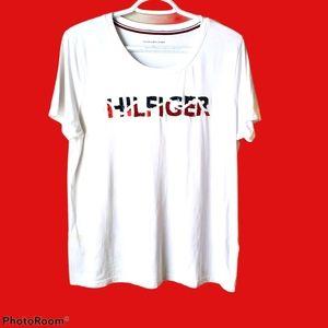 Tommy Hilfiger logo T-shirt, glitter, Large